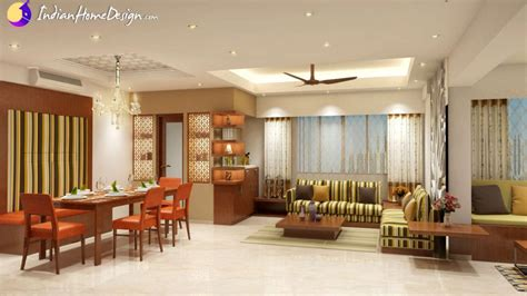 interior designing home dataye residence attractive living cum dining room design