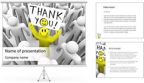 Thank You Note Template Powerpoint Thank You Note Powerpoint Template Backgrounds Id 0000003854 Smiletemplates