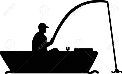 fishing boat clipart vector fishing from boat silhouette clipart cliparts suggest