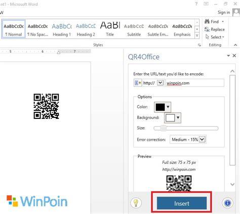 download aplikasi membuat qr code cara mudah membuat qr code dengan ms word winpoin