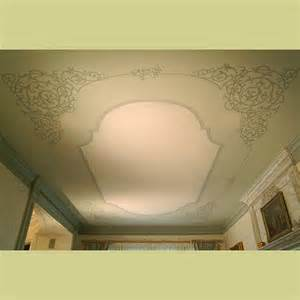 stenciled ceiling in dining room wall designs by