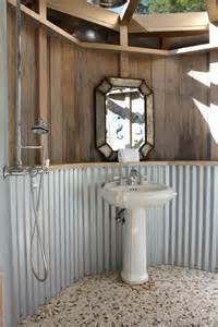 Bathroom Tin Walls How Do You Clean The Corrugated Metal