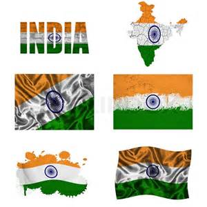 National Bird Of India Outline by Indian Flag Collage Stock Photo Colourbox
