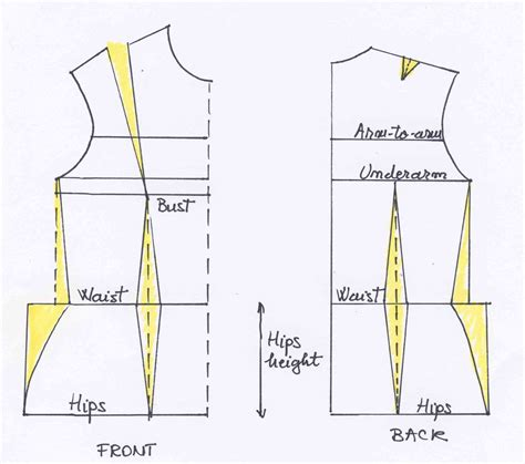 pattern drafting of bodice a tutoriel explaining how to adjust your bodice pattern to