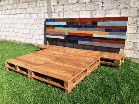 diy pallet platform bed frame diy pallet bed frame with headboard 99 pallets