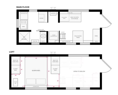 floor plan of small house tiny house on wheels floor plans blueprint for construction