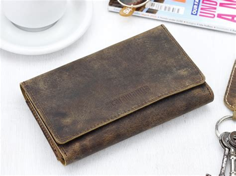 high quality beautiful new design wallet gift set leather tri fold smartphone wallet scaramanga