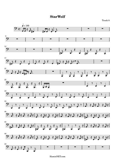 StarWolf Sheet Music - StarWolf Score • HamieNET.com