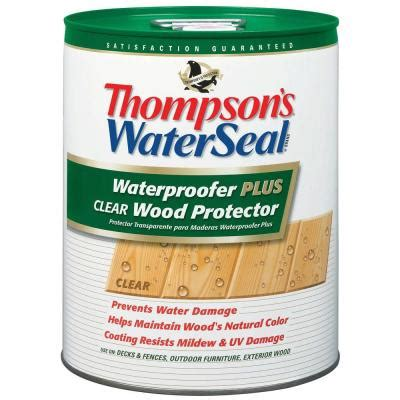 Waterproofing Outdoor Wood Furniture - thompson s waterseal 5 gal waterproofer plus clear wood protector 11805 the home depot
