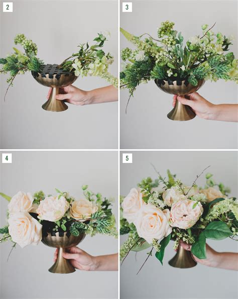 diy silk flower centerpiece green wedding shoes