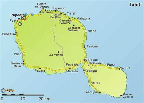 carte geographique touristique  plan de la polynesie