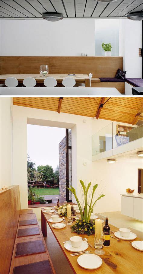 dining room design idea  built  banquette seating