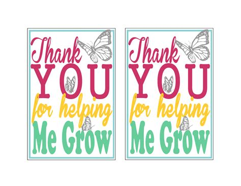 printable thank you cards for teacher appreciation 7 best images of free printable appreciation cards