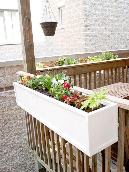 boxed  part  diy flower boxes deck planters flower