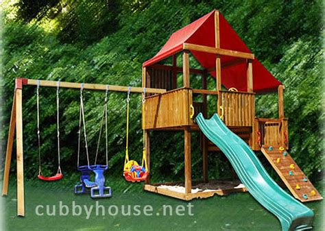 cubby house swing set turbo swing gym cubby fort australian made backyard