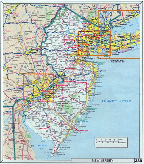 map nj large roads and highways map of new jersey state with cities vidiani maps of all