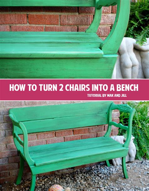 chairs into bench how to turn 2 chairs into a bench andrea s notebook