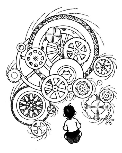 printable clock gears gears coloring page gears pinterest coloring steam