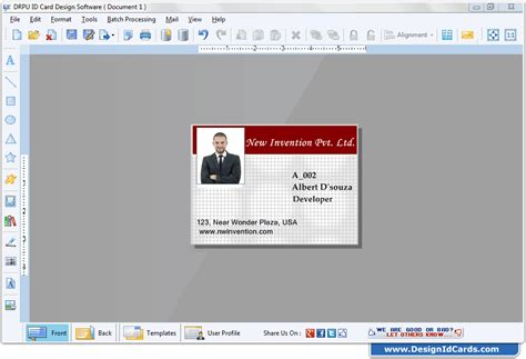 id card template design software design id cards software screenshots for how to create