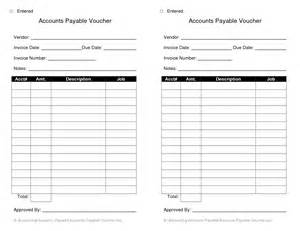 accounts payable voucher template payment voucher template pdf