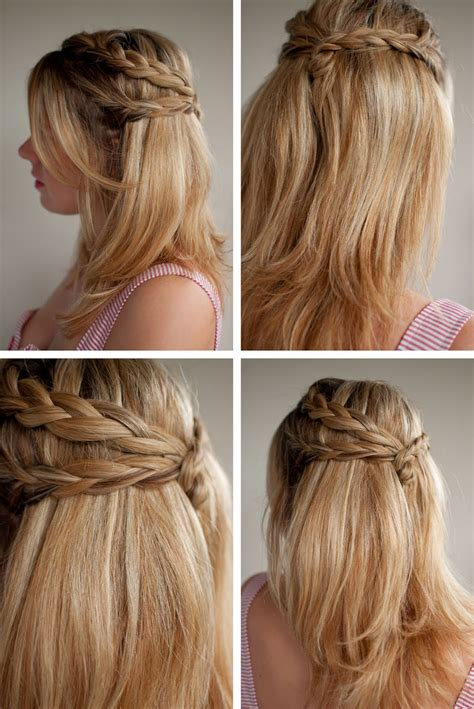 how to do half up half down hairstyles wikihow half up half down hairstyles for 2012 long hairstyles