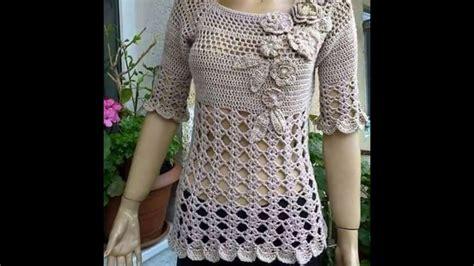 como tejer de gancho blusas linda blusa para tejer a crochet youtube