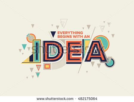create design idea modern typography design geometrical style stock vector 482175064