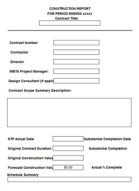 free construction daily report template daily construction report template 30 free word pdf documents free premium
