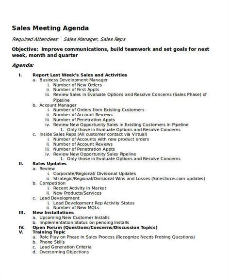 meeting agenda samples  sample  format   premium templates