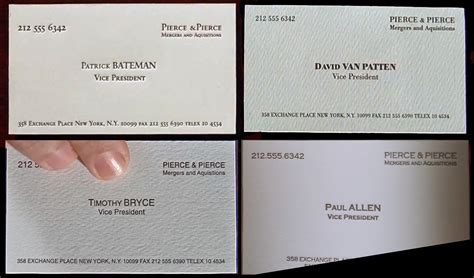 american psycho business card template all the business cards from american psycho and there s a