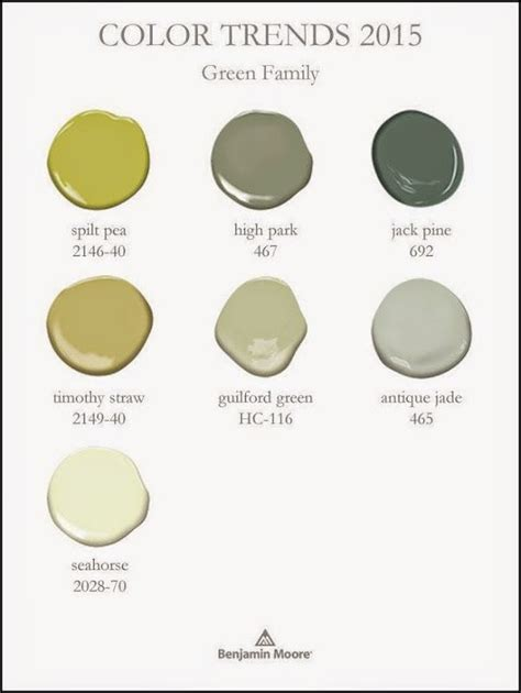 benjamin color trends 2015 green color family color paint inspirations