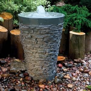 Aquascape Patio Pond Stacked Slate Fountain Fountain Fiberglass Stone
