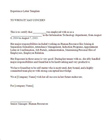 writing work experience letter tips template docs