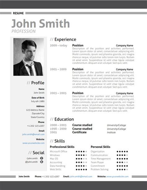 modern gray resume template make modern resume grey 001