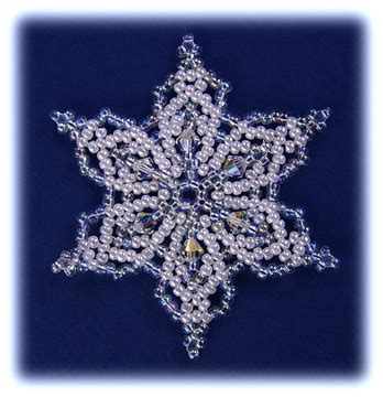 snowflake bead pattern snowflake 41 ornament sova enterprises