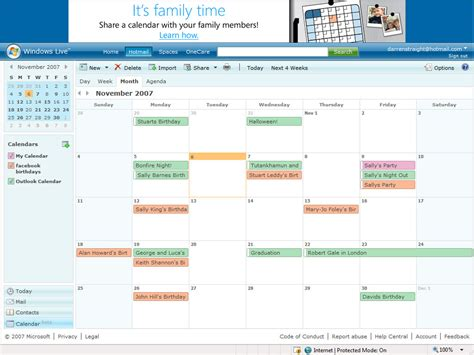 Calendar Live Windows Live Calendar Beta Up And Running
