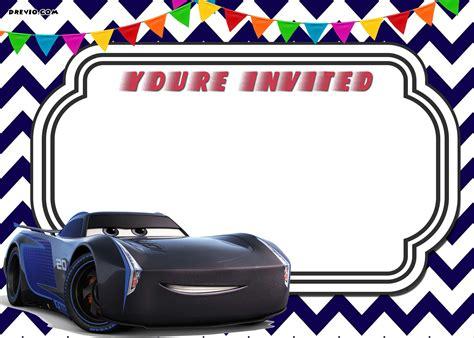 cars birthday card template free printable cars 3 lightning mcqueen invitation