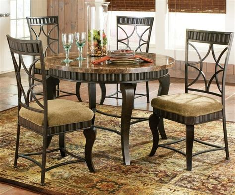 furniture round granite top dining table counter height