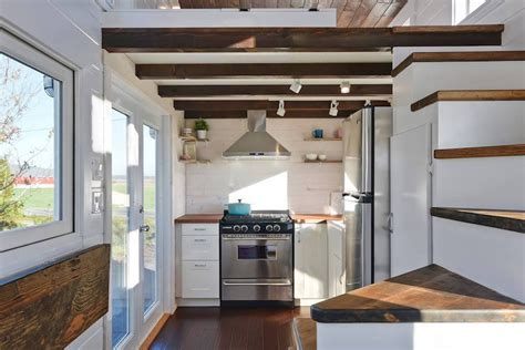 tiny house living design custom mobile tiny house with large kitchen and two lofts
