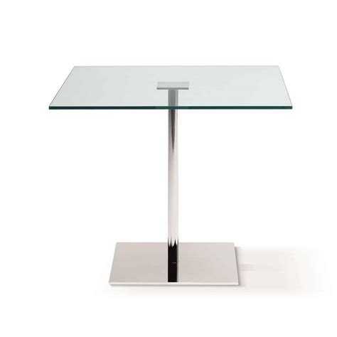 Square Glass Dining Tables Farniente Square Glass And Metal Dining Table By Tonelli Klarity Glass Furniture