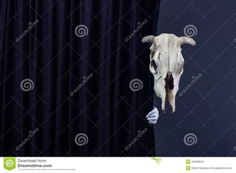 behind the black curtain fear and dread stock photo image 46269010