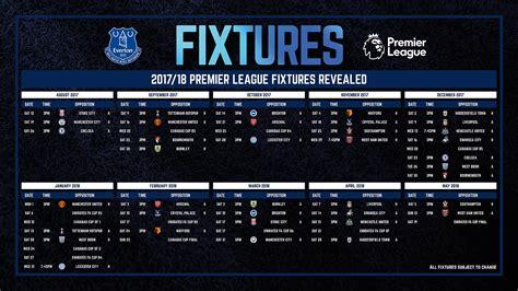 Calendario Premier League Everton Il Calendario Della Premier League 2017 2018 Si