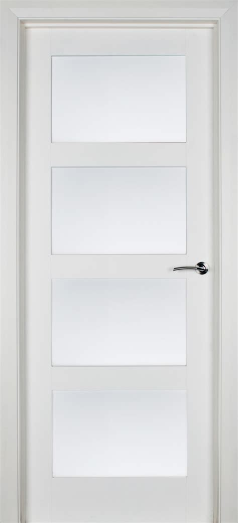 Trade Spec Contemporary 4 Lite Clear Toughened Glass (40mm