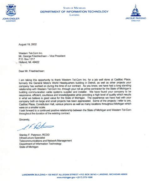 Recommendation Letter For Technology Western Tel Inc Dept Of Information Technology Reference Letter