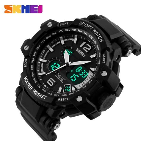Dijamin Jam Tangan Digital Skmei Sport Rubber Led 1145 skmei jam tangan analog digital pria ad1137 black white jakartanotebook