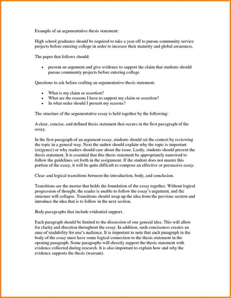 Exles Of Argumentative Thesis Statements For Essays by How To Write An Argumentative Essay 5 Paragraph
