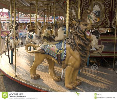 carousel horse  lion stock image image
