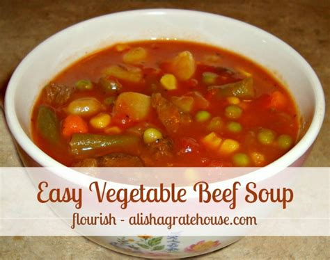 easy vegetable soup recipe for easy vegetable beef soup