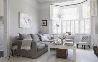 Light Grey Room by Victorian Terrace Sitting Room Plantation Shutters White