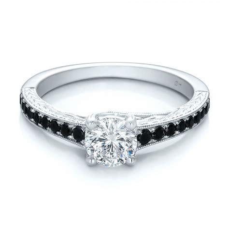 custom black engagement ring 100665 bellevue